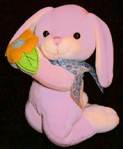 Walmart Lavender Kneeling Bunny Holding Flower