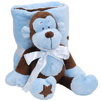 Koala Baby Brown & Blue Monkey with Star on Foot