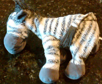 , FOUND – Koala Baby No. 768445 GRAY & WHITE ZEBRA