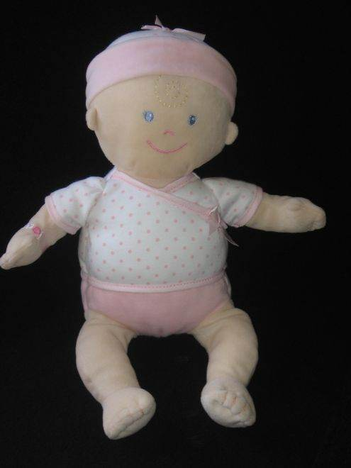 Koala Baby Blond Doll Wearing a Pink Polka Dot Onesie