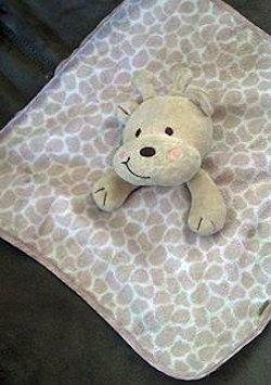 Koala Baby Tan Print Giraffe Blankie