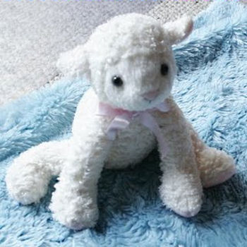 , FOUND but Still Searching – 2008 Koala Baby WHITE LAMB with PINK BOW
