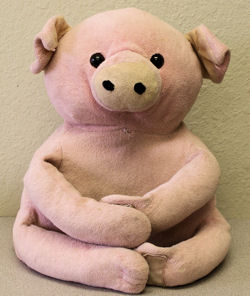 Kohl's Pink Pig with Velcro Feet