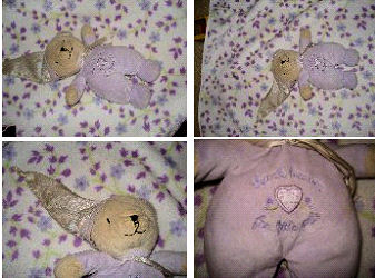 , Searching – Carter's THANK HEAVEN FOR LITTLE GIRLS Lavender Sleeper & Night Cap BEAR