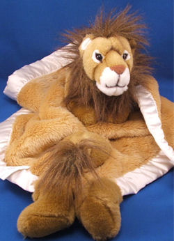 Small Lion Blankie with Head, Arms, Legs & Tail