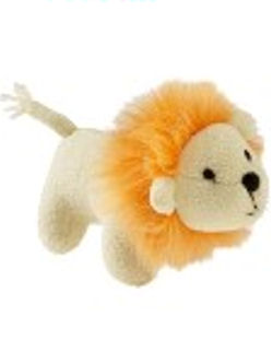 , FOUND – 2007 Old Navy SMALL LION RATTLE with ORANGE MANE & EMBROIDERED EYES