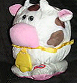 , FOUND – Little Tykes PUFFALUMP STYLE WHITE & BLACK COW