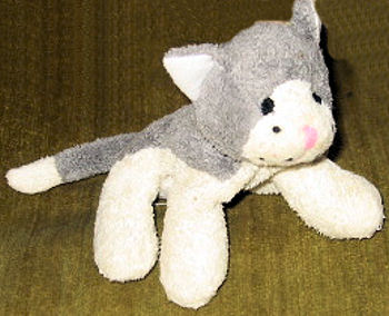 , FOUND – Luv n' Care SMALL GRAY & WHITE Beanie CAT