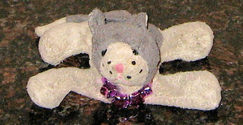 , FOUND – LUV n' CARE Small GRAY FLOPPY Kitty CAT