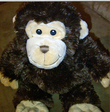Macy's FIRST IMPRESSIONS BROWN & CREAM MONKEY