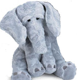 Two Manhattan Toy Co Big Grey Wanda elephants