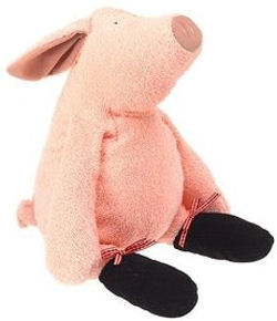 Manhattan Toy LARGE PIERRE TIP TOES PINK PIG with BLACK FEET