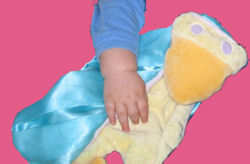 Manhattan Toy SUE the DUCK YELLOW & BLUE BLANKIE