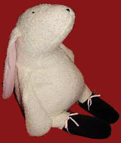Manhattan Toy Co. Pink Tiptoes Rabbit with Black Nose & Feet