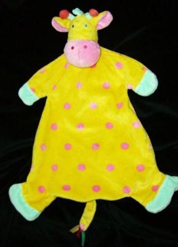 Manhattan Toy Jingle Jungle Yellow & Pink Giraffe Blankie