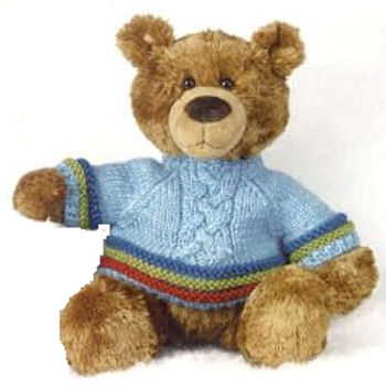 , Searching – Mary Meyer BROWN BEAR Wearing a BLUE SWEATER
