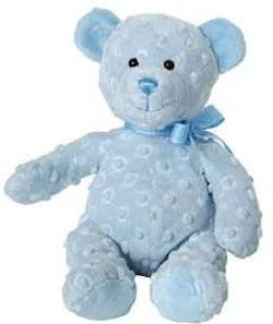 Mary Meyers Dimples Bear in Blue Windup Plays Teddy Bear Picnic