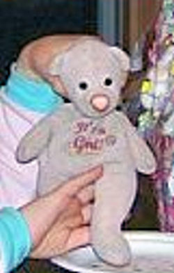 Mary Meyer Pink It's a Girl Bear