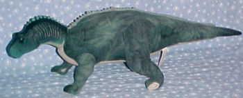 Mattel Plush Disney Aladar the Star Bean Blue Green Dinosaur with Plastic Head
