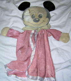 Late 80's or Early 90's Mickey Mouse Puppet Blankie