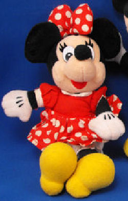 4-5 inch Disney MINNIE MOUSE Red Dress Large White Polka Dots Hair Bow