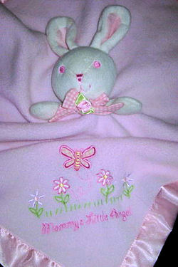 First Moments Mommy's Little Angel bunny security blankie