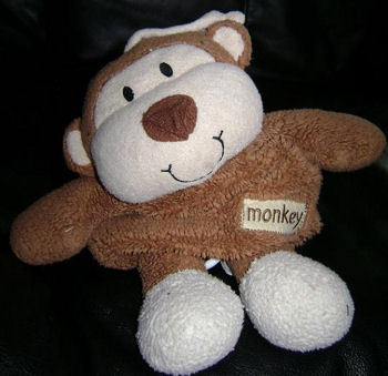 Animal Adventure Brown & Cream Pull String Musical Monkey