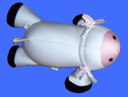 MOSHI Large White Lamb with Pink Face & Black Hooves