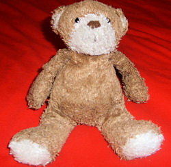 Small Brown Mothercare Bear with White Muzzle and Brown Nose