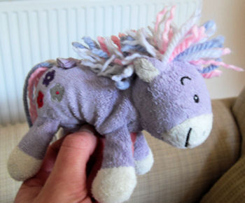 Mothercare Small Pink Pony with Yarn Mane & Flowers on Tush