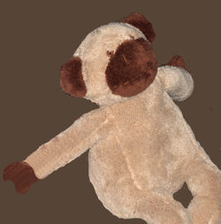, FOUND – Old Navy BEIGE & BROWN MONKEY with MONKEY SOUNDS