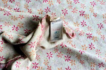 , FOUND – Old Navy ORANGE & PINK FLOWERS BABY BLANKET
