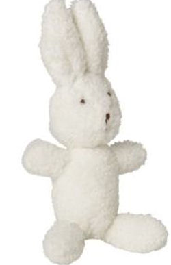 , FOUND – 2008 Old Navy LITTLE BUNDLES WHITE RABBIT with RATTLE