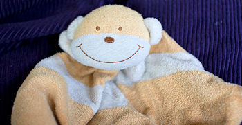 Orange and Cream Monkey Blankie