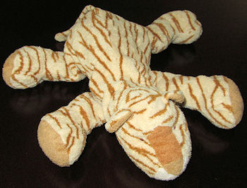 , Searching – Orange & White Lying Down Fleece Tiger