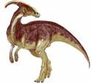 90's Gray & Pink Parasaurolophus Beanie Dinosaur