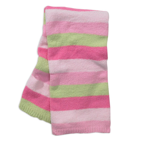 , FOUND – Carter's Child of Mine CHENILLE PASTEL Colors STRIPED BABY BLANKET