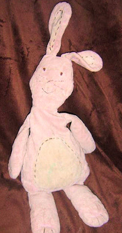 Pottery Barn Kids Pink Rabbit with Stitching