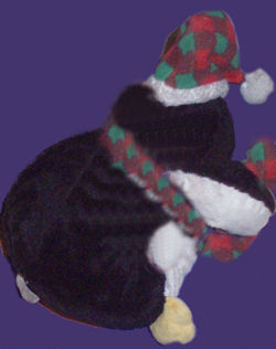 Chosun Large Stuffed Penguin with Checked Scarf, Hat