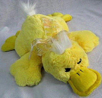 , Searching – Pier 1 YELLOW DUCK PLATYPUS With WHITE HAIR TUFTS