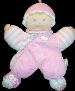 , FOUND – Kids Preferred CUTIE Pink Blonde DOLL STRIPED SLEEVES