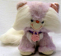 , Searching – 80's Rose Palace Place VIOLET Tipped WHITE Fur PITTERPAT CAT