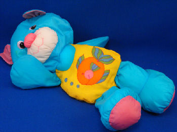 Searching - Playskool WATER PETS BLUE CAT Wearing Fish Print YELLOW ...