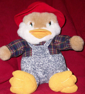 , Searching – Large 90's DUCK that QUACKS Wearing HAT & JEANS