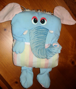 Mel Appel Plumppets elephant, Searching – 80s Mel Appel Plumppets Elephant Pillow
