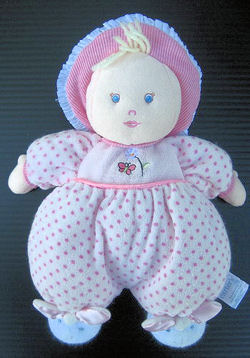 Carter's Brown Hair Doll with a Pink Polka Dots Outfit