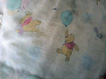 90's Winnie the Pooh & Piglet with Balloons Crib Blanket