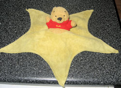 Pooh Bear Blankie with 5 points