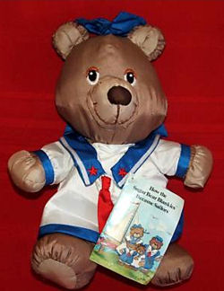 80's Potpourri Press Sugar Bear Blankies Boy Sailor Bear
