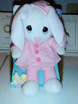 Precious Moments Rabbit in a Pink Outfit